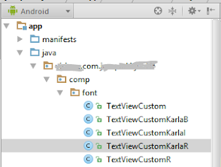 mengubah font textview android studio step 2