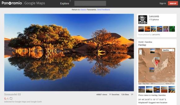 Panoramio redesign for Panoramio photos