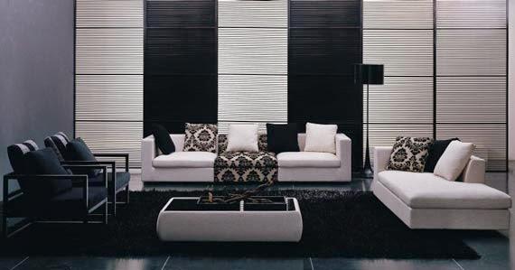 Dise os salas minimalistas blanco y negro salas con estilo for Sala de estar futurista