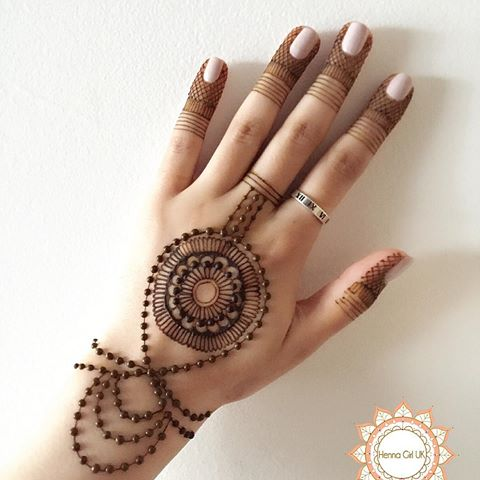 Beauteous Ring Mehndi Designs For Fingers