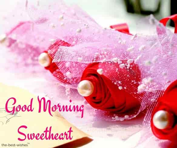 good morning sweetheart wishes