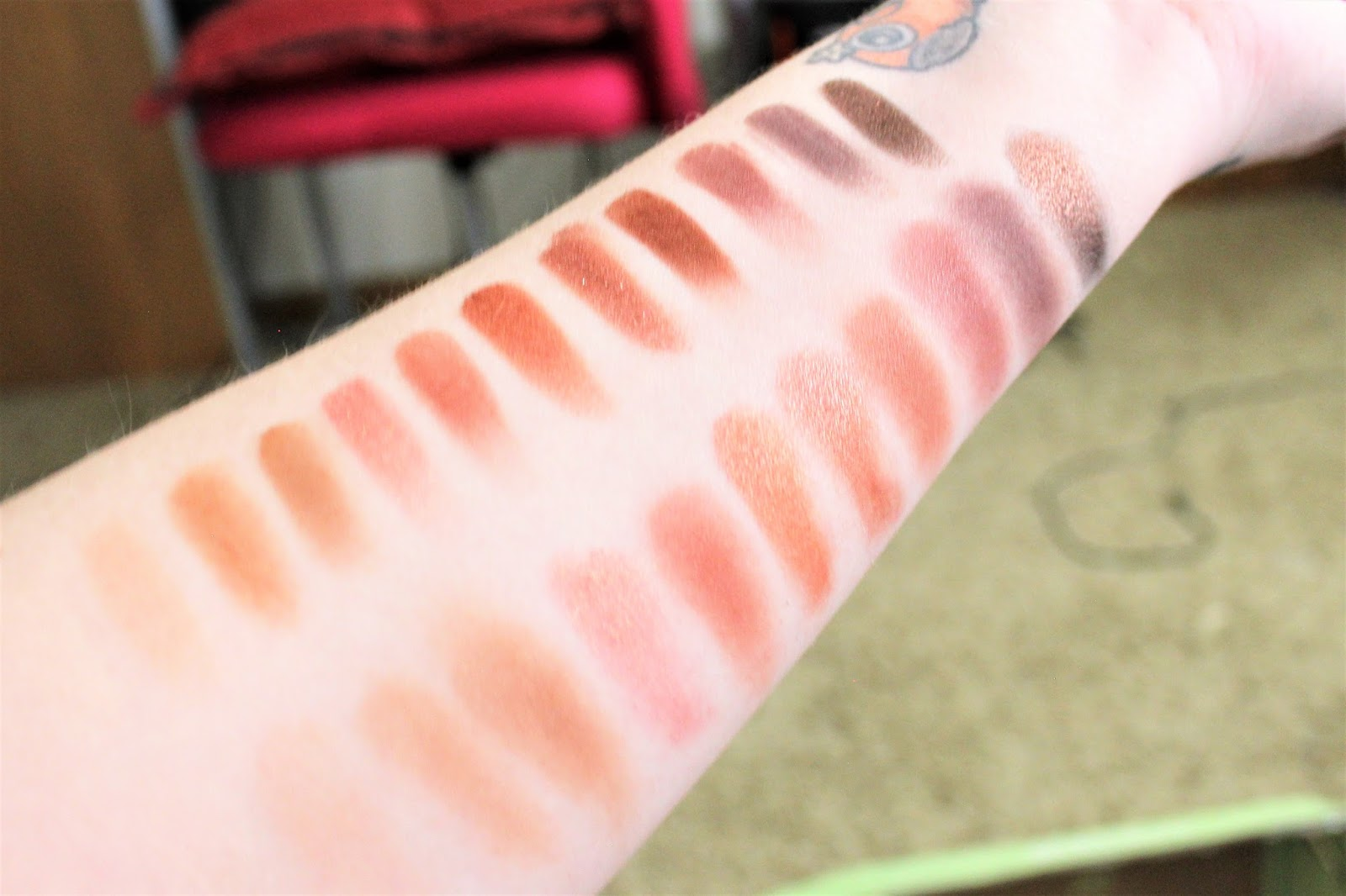 UD Naked Heat Swatches