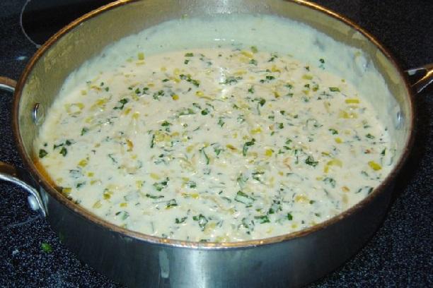 Salsa de puerro para pastas