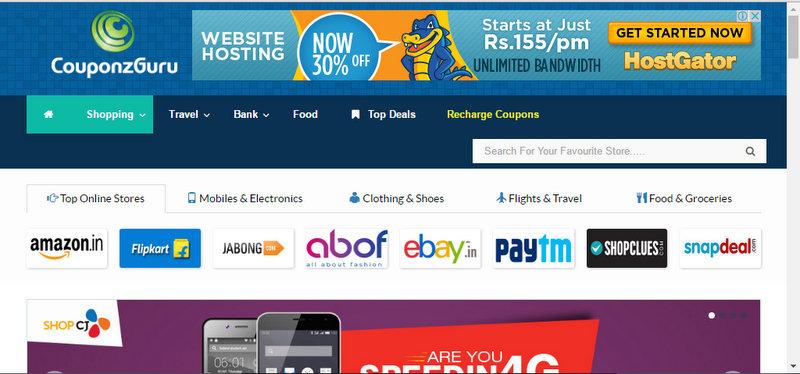 Couponzguru Com Get Best Online Coupons And Deals For Indian Online Sites