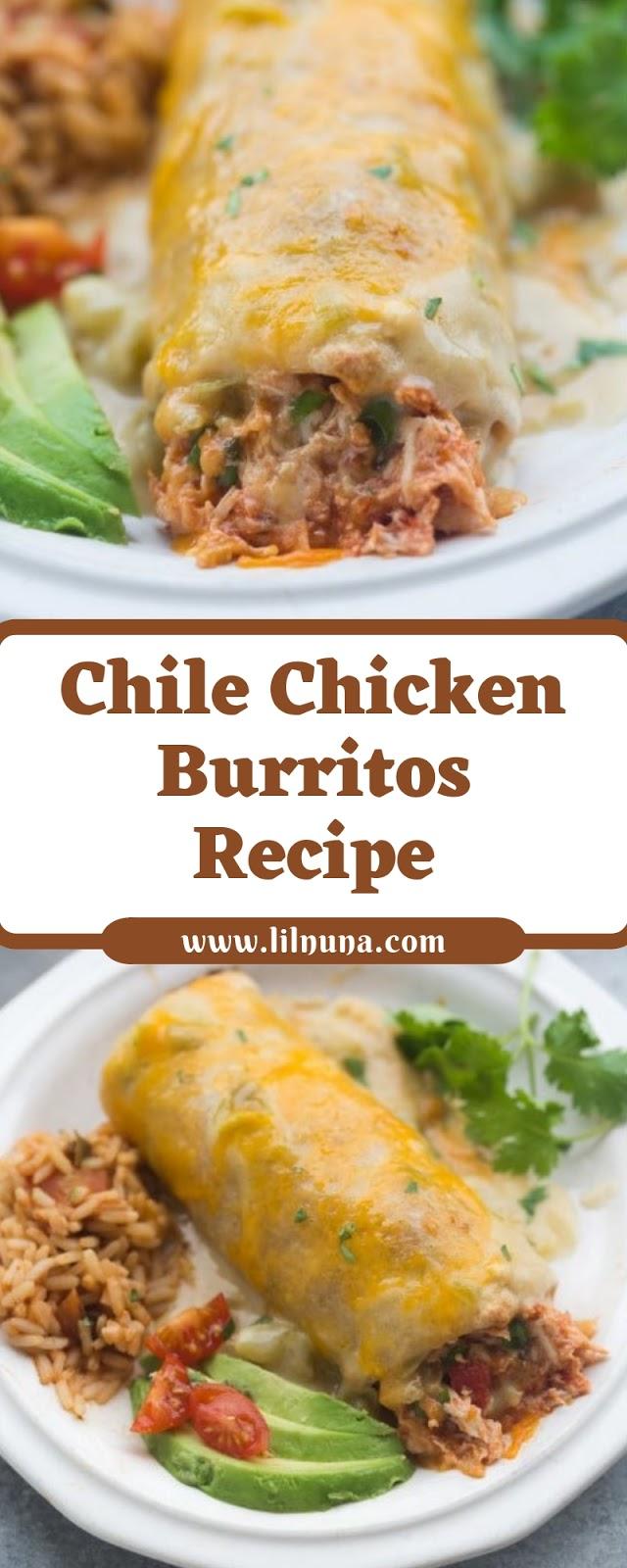 Chile Chicken Burritos Recipe