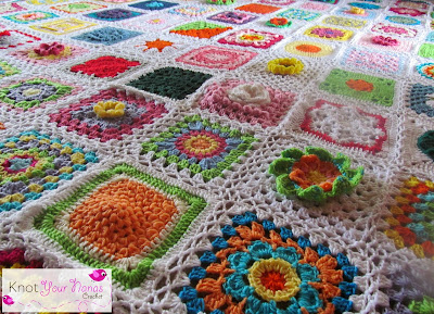 Knot Your Nana S Crochet Granny Square Cal Finished Blanket