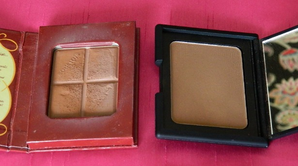 nars laguna bronzer bourjois delice de poudre comparison review post swatches chocolate bronzing powder dupe high street high end dupe blog
