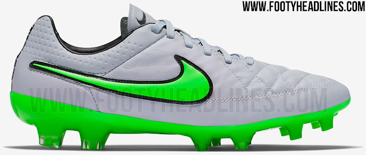 free shipping 3c2de 8da9c Silver / Green Nike Tiempo Legend V 2015-2016 Boots Released ...
