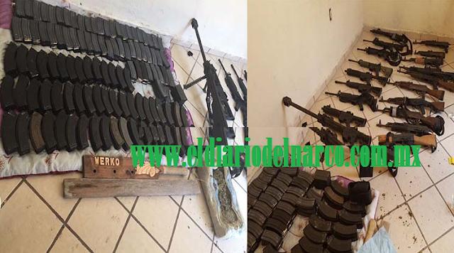 """VIDEO: Militares tumban arsenal del comandante """"Werko"""" del Cártel del Noreste en Nuevo Laredo"""
