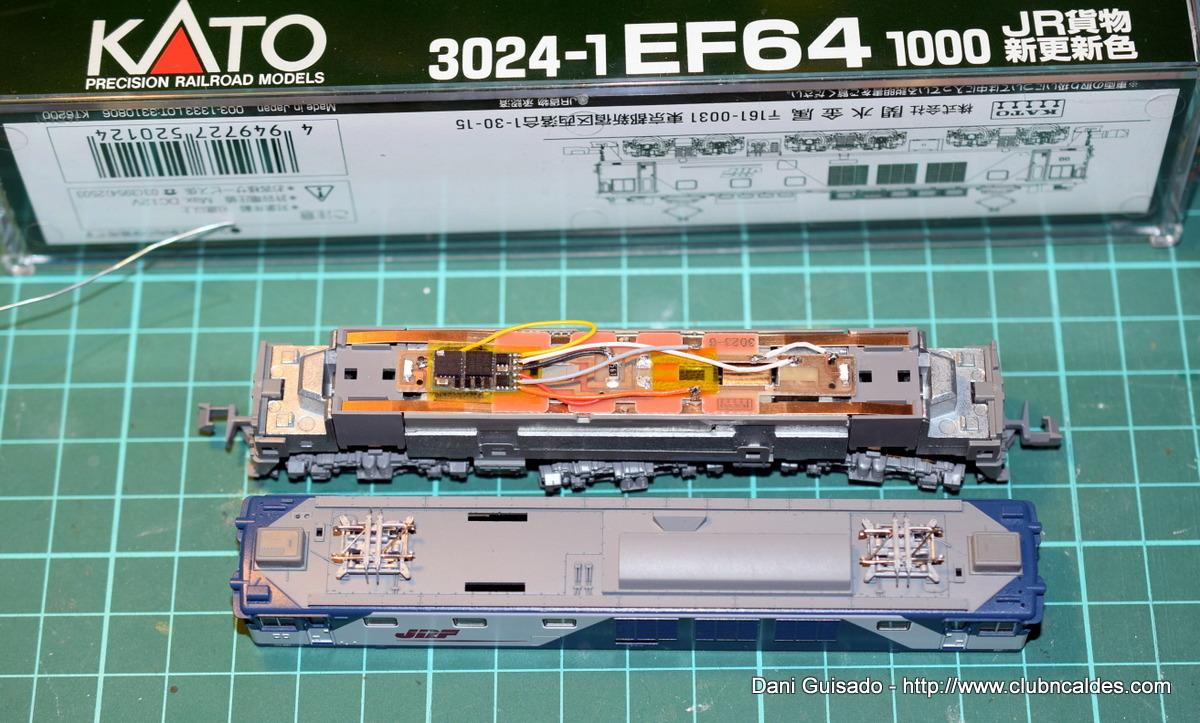 Club N Caldes: Kato 3024-1 EF64-1000 DCC Digitalization