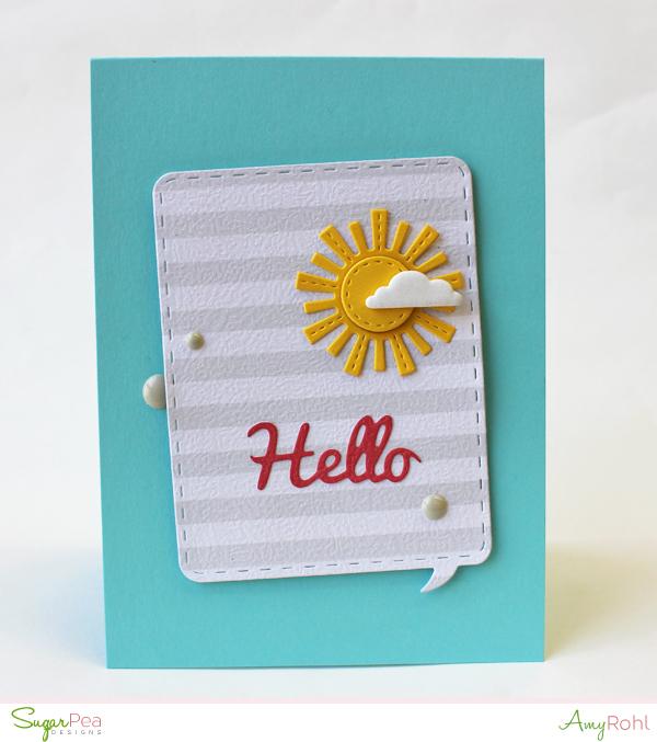 Sugarpea Designs Chatterbox Journal Card Sugarcuts Dies
