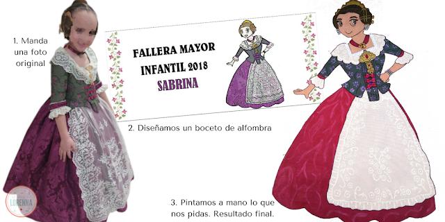 Alfombra para decorar el portal Fallera Mayor