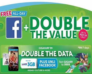 Smart Giga Surf 99  - 3GB Data, 600MB for Streaming and Unli FB