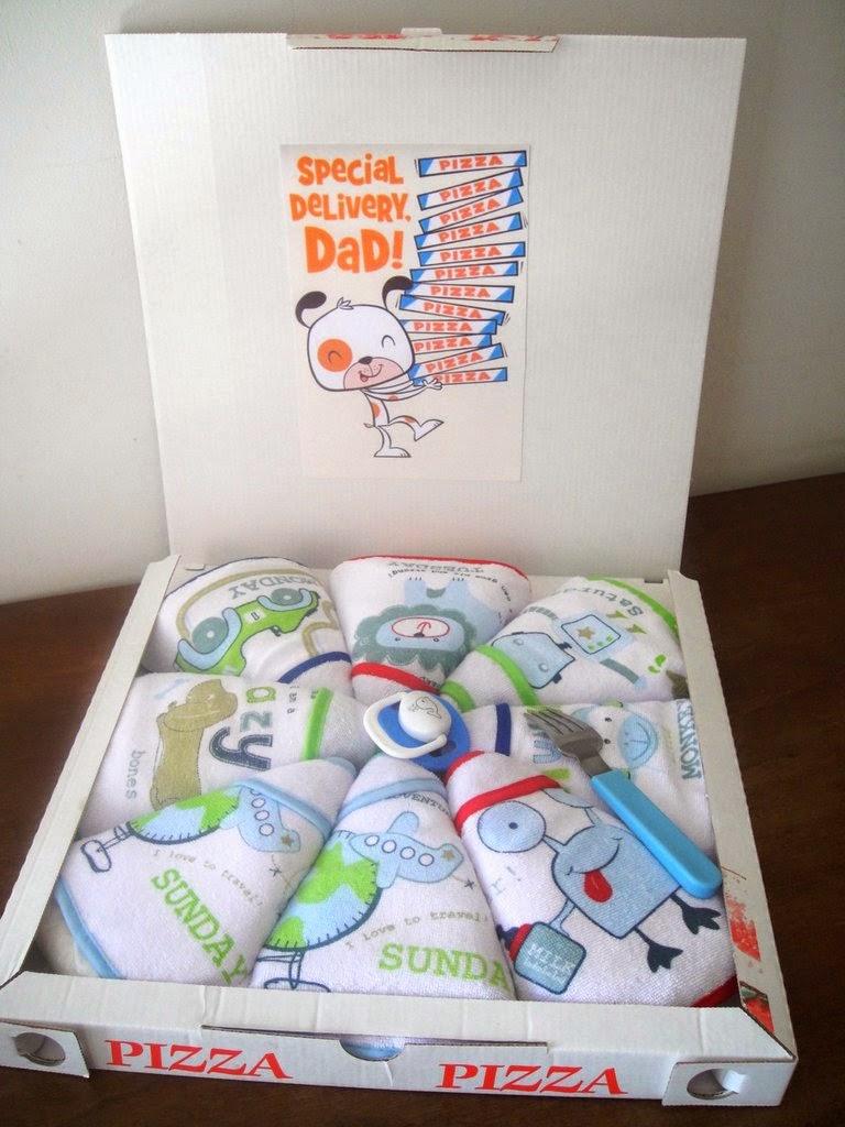 molti alla moda più economico nuova collezione My sock friends & Co: Pizza di pannolini - Idea regalo ...
