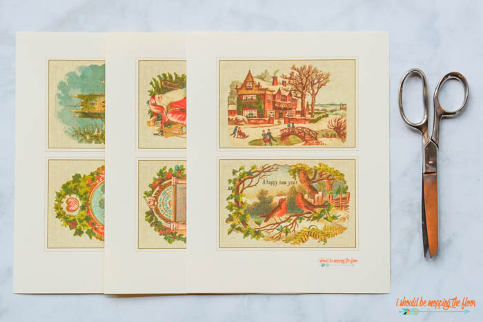 Christmas Postcards with a Vintage Look