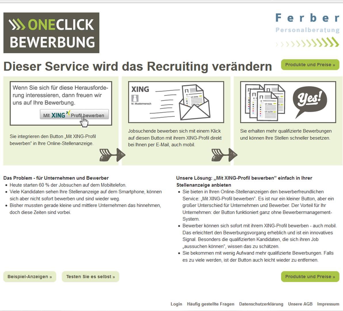 candidate experience praxis one click bewerbung fr kmus - Bewerbung Heute