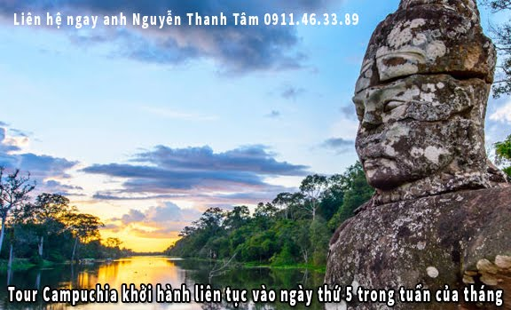 Tour Campuchia khởi hành liên tục vào ngày thứ 5 trong tuần của tháng 6