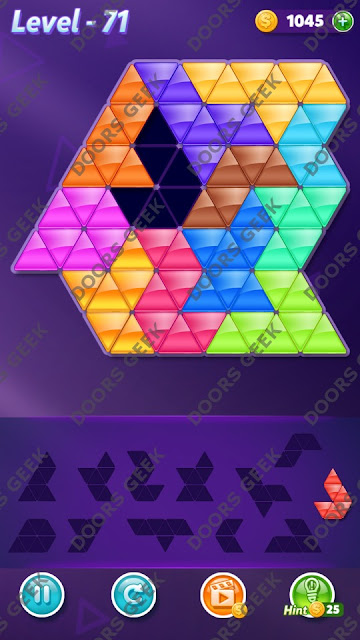 Block! Triangle Puzzle Grandmaster Level 71 Solution, Cheats, Walkthrough for Android, iPhone, iPad and iPod
