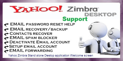 yahoo zimbra desktop support