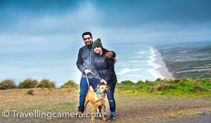 On our way, we stopped at Arun's place and had our breakfast. Shivani and Woz also joined us for this quick trip to Point Reyes Lighthouse in California. This whole ride is very beautiful and towards the end road goes through hills and weather made it more interesting.