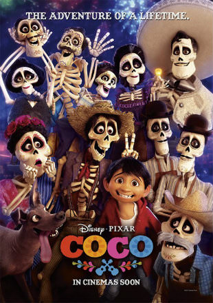 Coco 2017 Dual Audio BRRip 720p Hindi English ESub