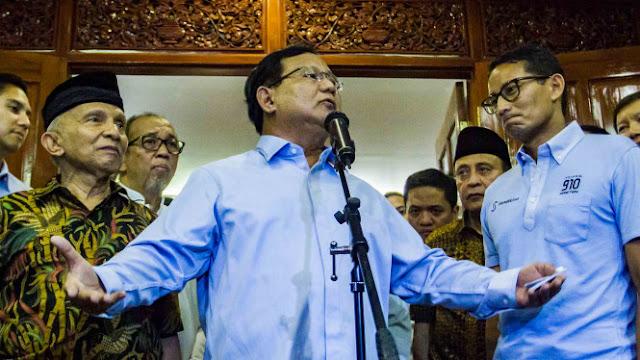 Timses Prabowo-Sandiaga Target 60 Persen Menang di DKI dan Nasional