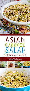 Asian Cabbage Salad  with Sriracha and Sesame found on KalynsKitchen.com