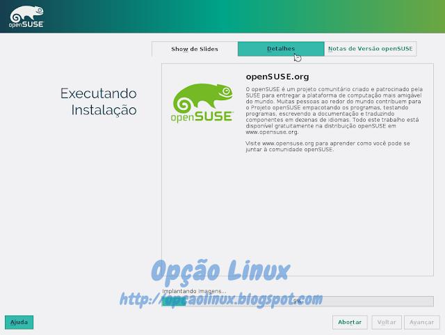 Instalando o openSUSE Leap