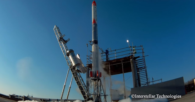 MOMO-F3 rocket on the launch pad shortly before liftoff. Credit: IST
