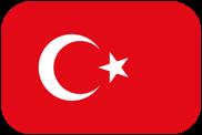 Rounded flag of Turkey
