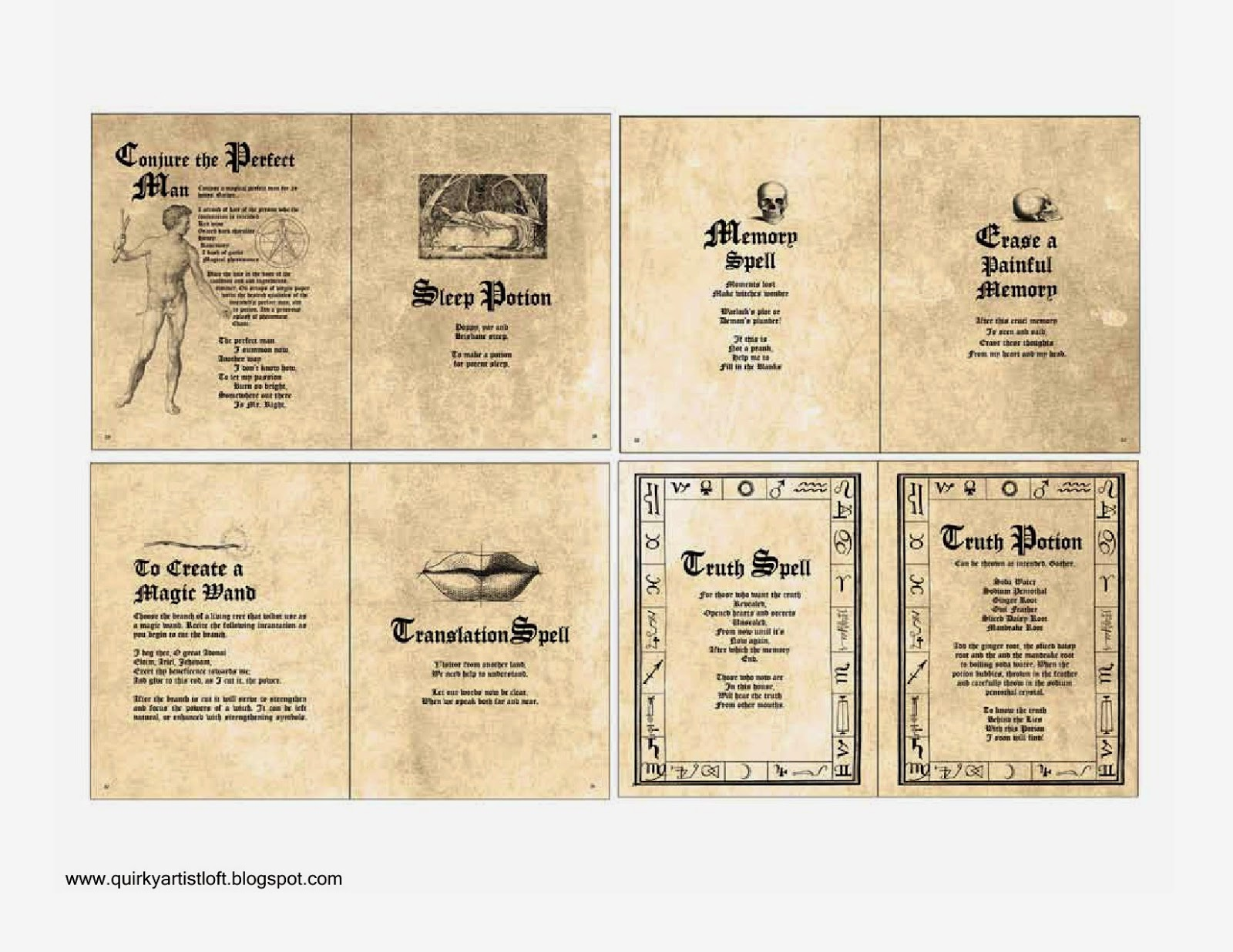 It's just a graphic of Genius Printable Spell Templates