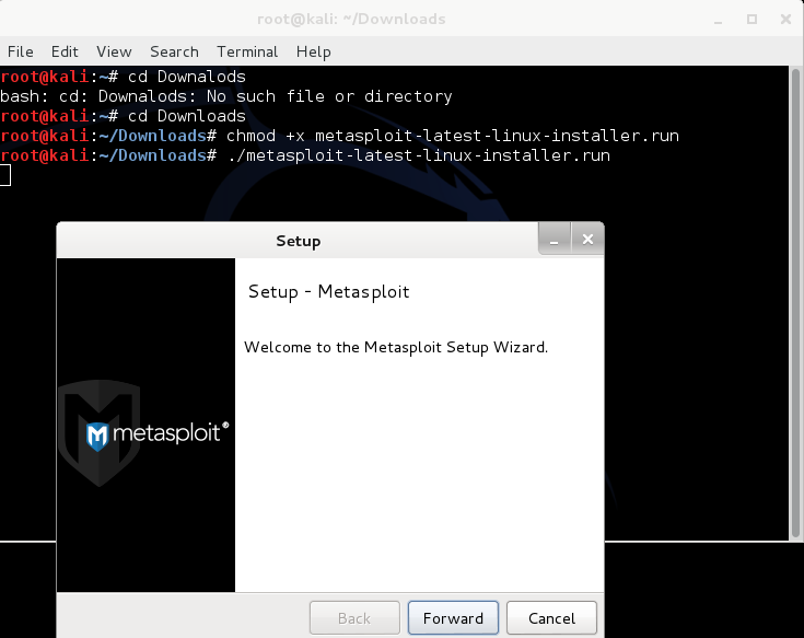 Metasploit Gui Community Edition In Kali Linux The World
