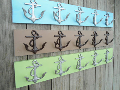 anchor-shaped wall hooks