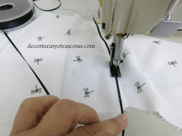 como aplicar trencilla sobre las costuras