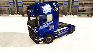 Levski Sofia skin for Scania Streamline
