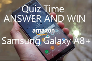 Today's New Samsung Galaxy A8 + Plus Quiz Time Contest started on Amazon App. All answers of Samsung Galaxy A8+ quiz Time just updated here. If you are looking for Smartphone and want it free then play amazon app quiz time contest. Yes, it's free, amazon new quiz time is live on amazon app. This quiz time is a Lucky Draw contest. Answer and Win Samsung Galaxy A8 Plus Free.