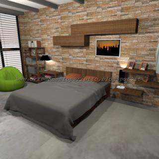 La camera da letto in stile metropolitano