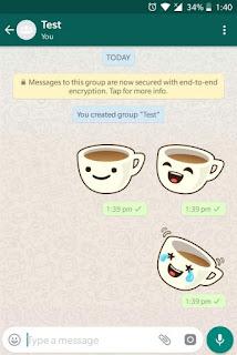 kamu sekarang dapat mengirim stiker ke pengguna WhatsApp lainnya Cara Mengirim Stiker Di WhatsApp