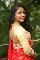 Akshara in Red Saree Golden Choli at LV Movie Makers Production No 1 Movie Opening ~  Exclusive 114.JPG