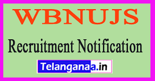 WB National University of Juridical Sciences WBNUJS Recruitment Notification 2017