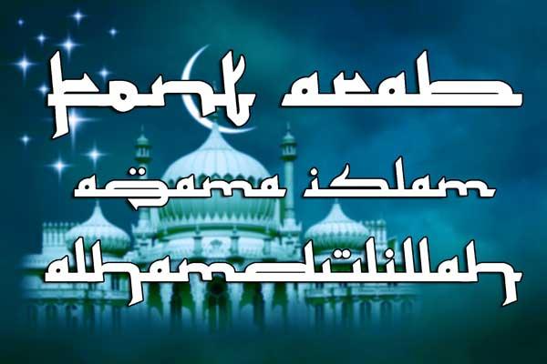 font arabic seperti tulisan arab