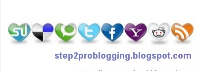 [How to] Add Heart social Bookmark icons to blogger Post [Tutorial]