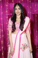 Adaa Sharma in White Pink Saree at Zee Telugu Apsara Awards 2017 29.JPG