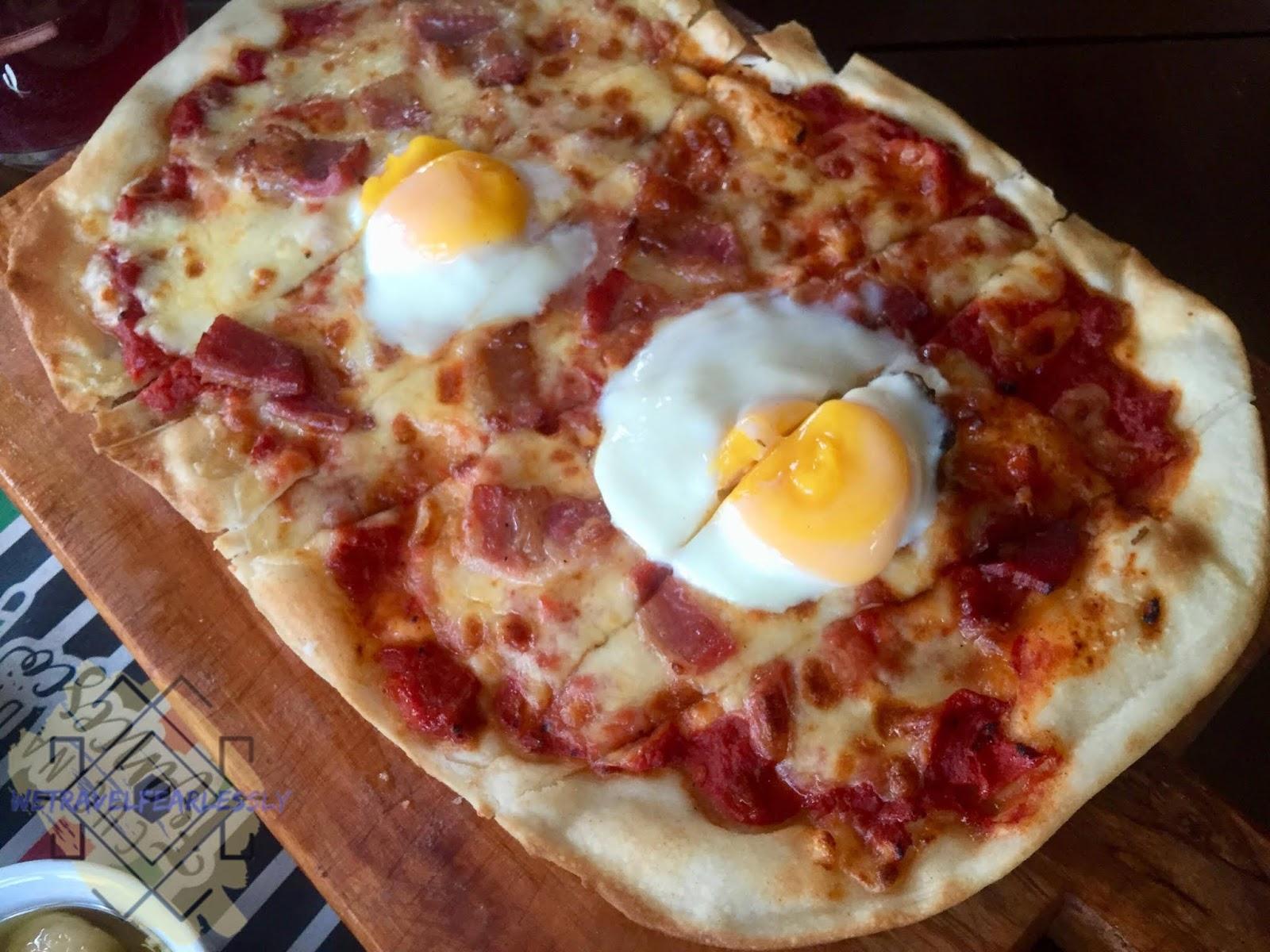 Breakfast Pizza (PHP360) in Cucina di Francesco in Libis, Quezon City
