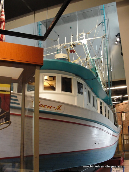 shrimp boat at Capitol Park Museum in Baton Rouge, Louisiana