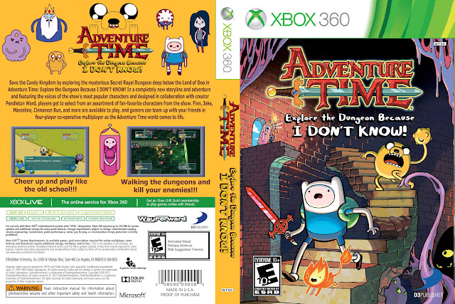Capa xBox360 Adventure Time Explore the Dungeon Because I DON'T KNOW!