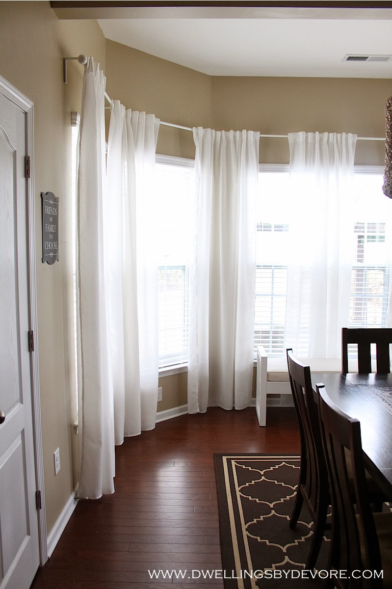 Window Curtains: Dwellings By DeVore: Bay Window Curtains
