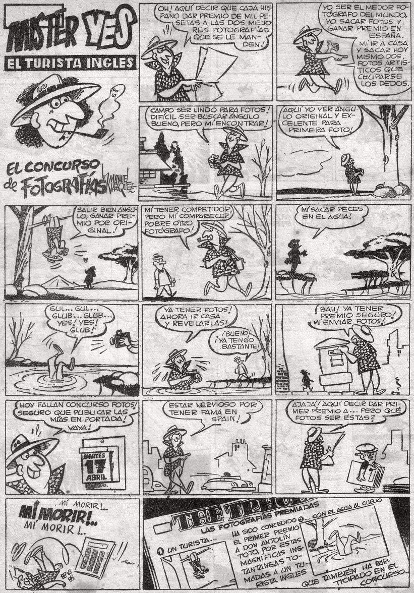 Mister Yes, página posiblemente publicada en Pocholo (Hispano Americana)
