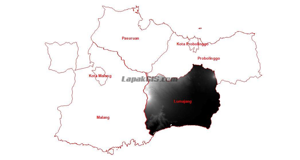 Data DEM Nasional 0.27 ArcSecond Wilayah Malang-Pasuruan-Probolinggo-Lumajang