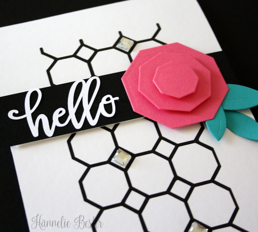 octagon rose card -  fun with geometric shapes
